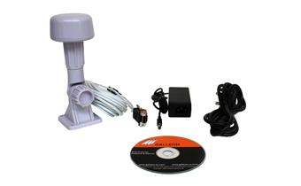 o que é fornecido com o receptor tempo AC-500-GPS